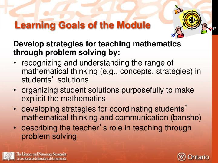 Learning Goals of the Module