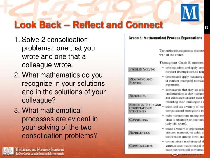 1. Solve 2 consolidation problems:  one that you wrote and one that a colleague wrote.