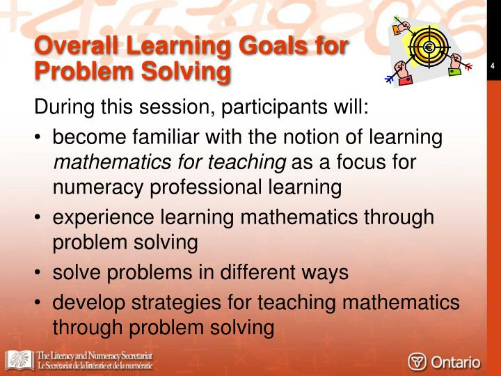 Overall Learning Goals for