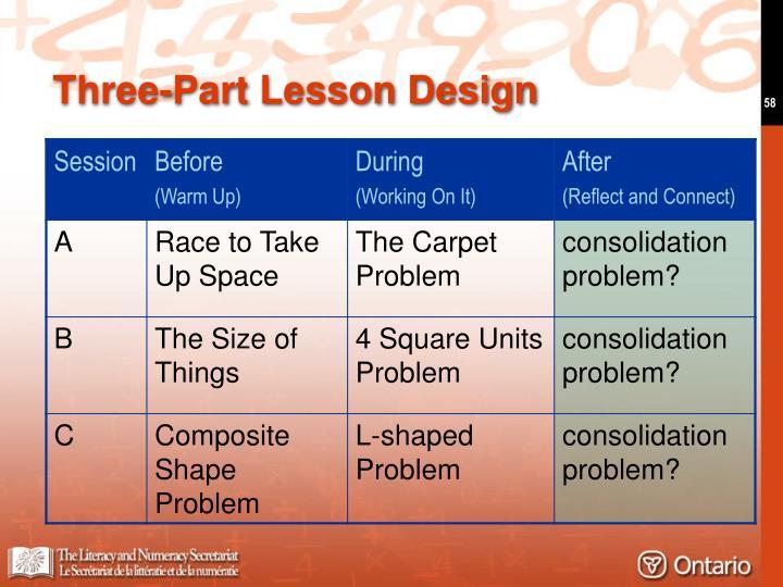 Three-Part Lesson Design