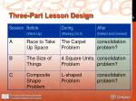 three part lesson design