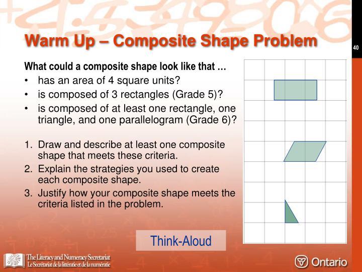 Warm Up – Composite Shape Problem