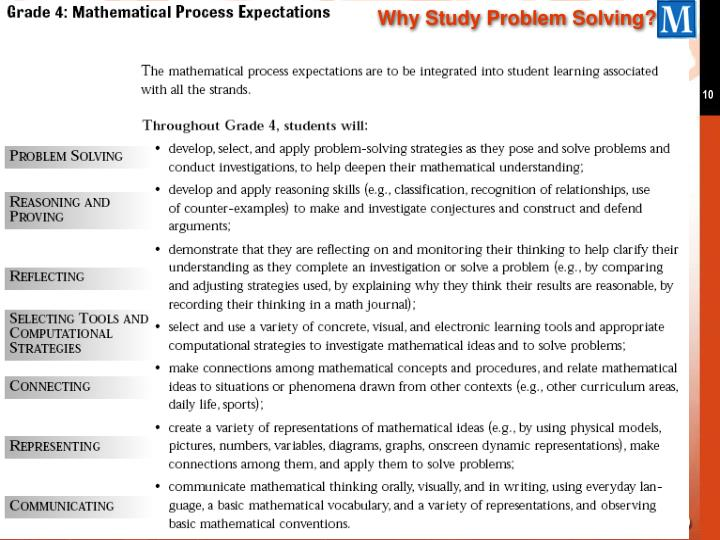 Why Study Problem Solving?