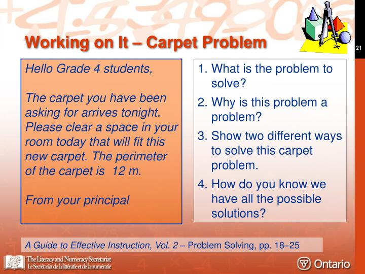 Working on It – Carpet Problem