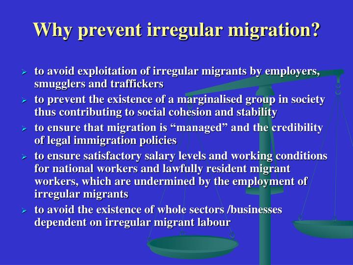 Why prevent irregular migration?