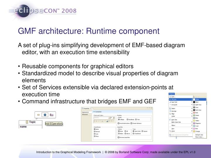 GMF architecture: Runtime component