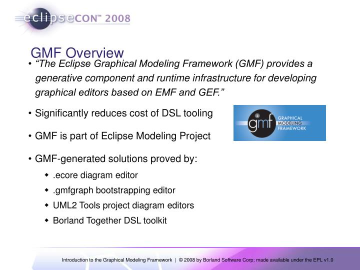 Gmf overview