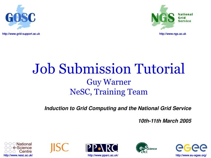 Job Submission Tutorial