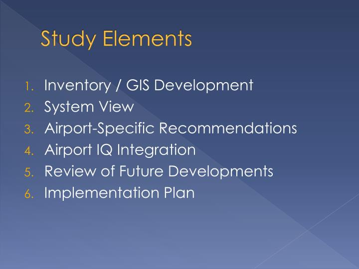 Study Elements