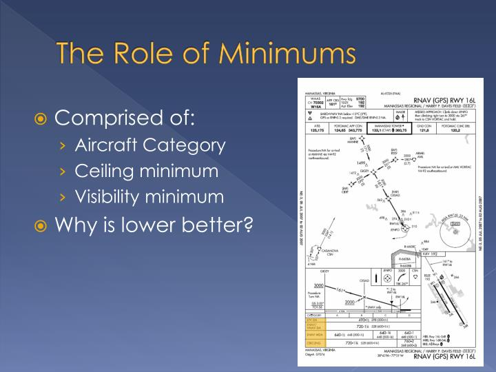 The Role of Minimums