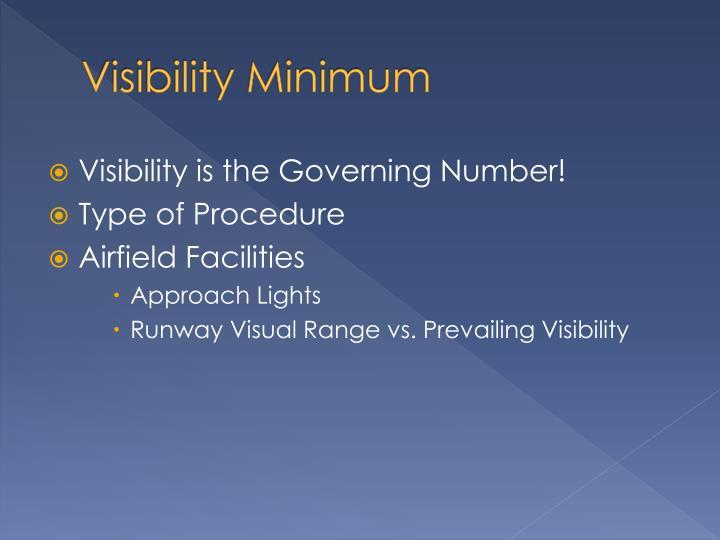 Visibility Minimum