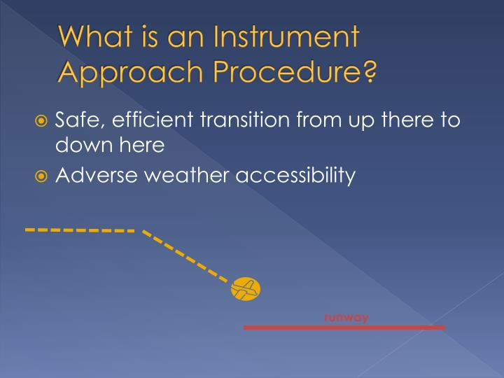 What is an Instrument Approach Procedure?