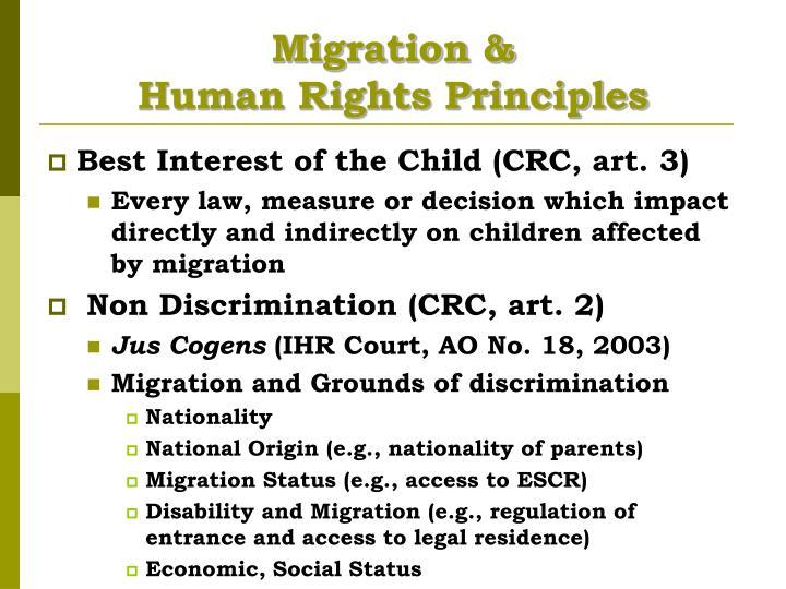 Migration &