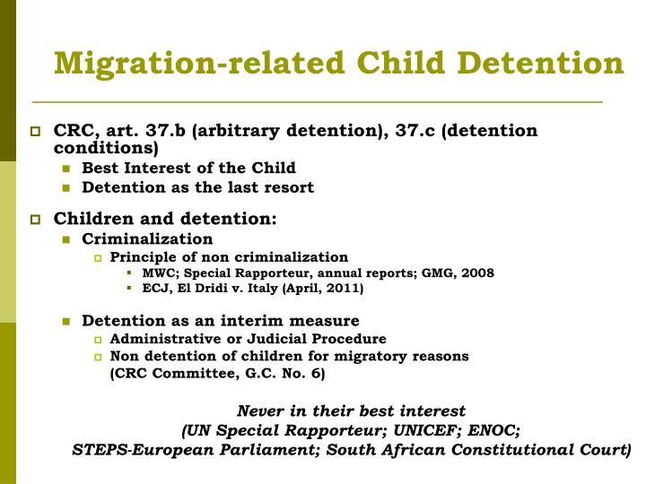 Migration-related Child Detention