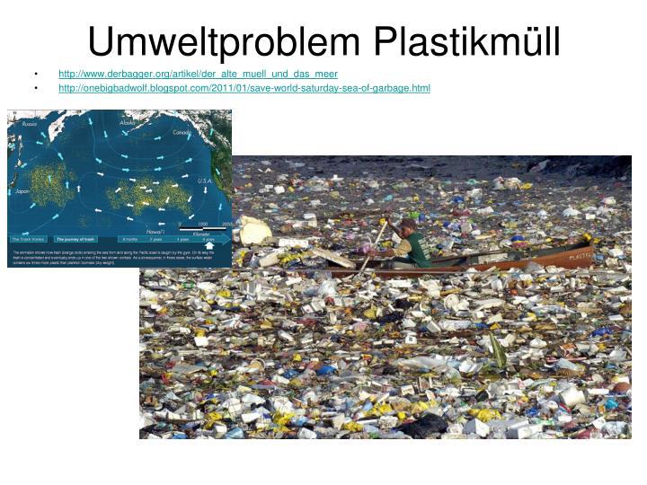Umweltproblem Plastikmüll