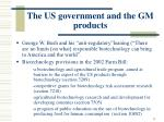 the us government and the gm products