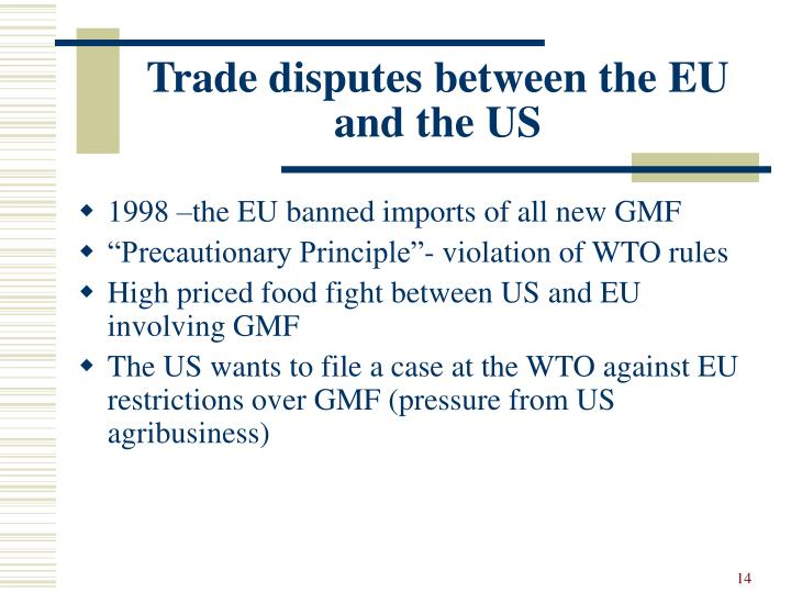 Trade disputes between the EU and the US