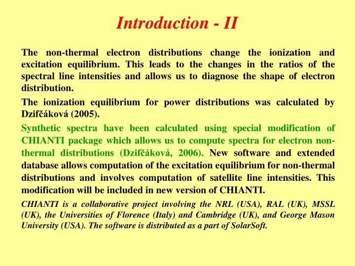 Introduction - II