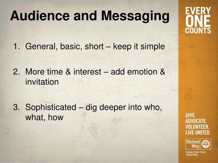 Audience and Messaging