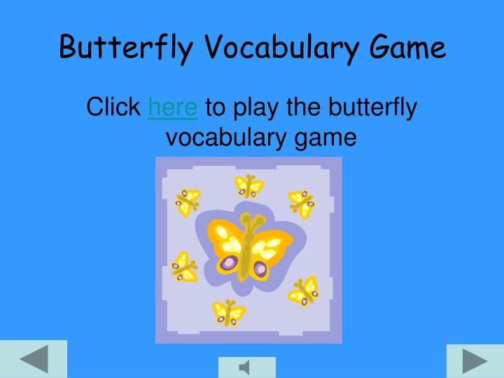 Butterfly Vocabulary Game