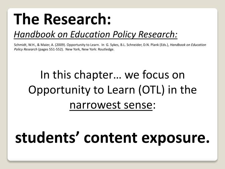 The Research: