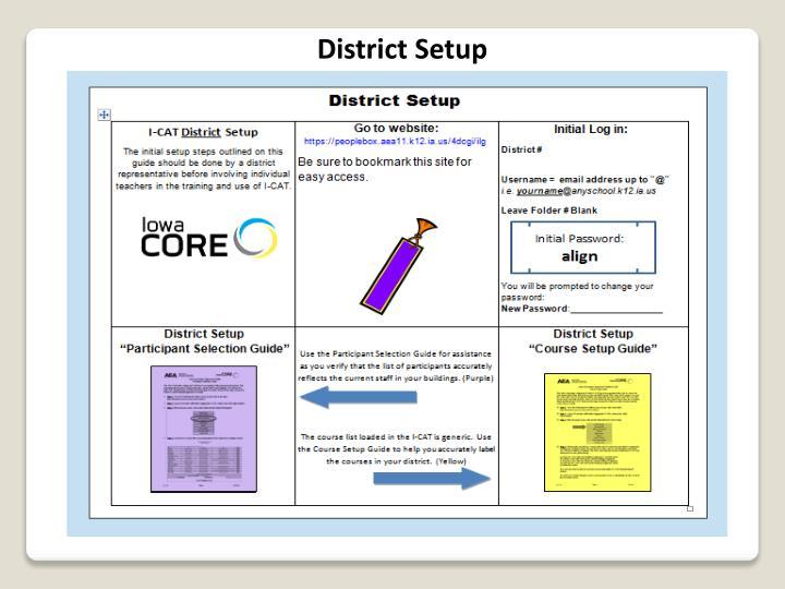 District Setup