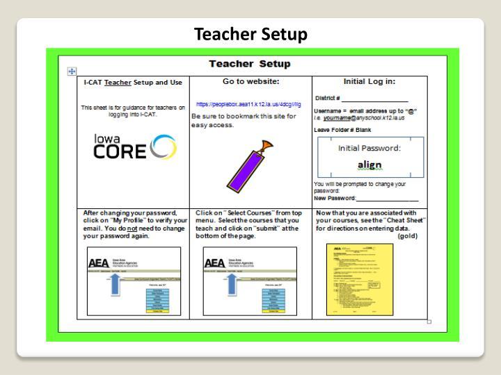 Teacher Setup