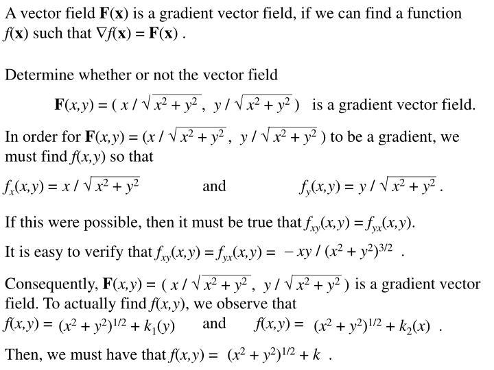 A vector field