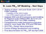st louis pm 2 5 sip modeling next steps