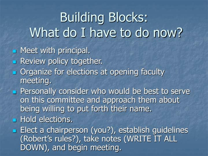 Building Blocks: