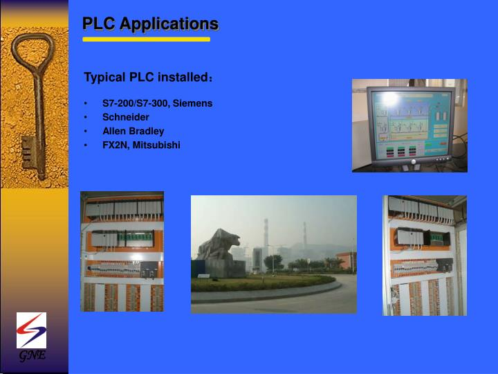 Typical PLC installed