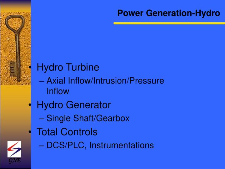 Power Generation-Hydro