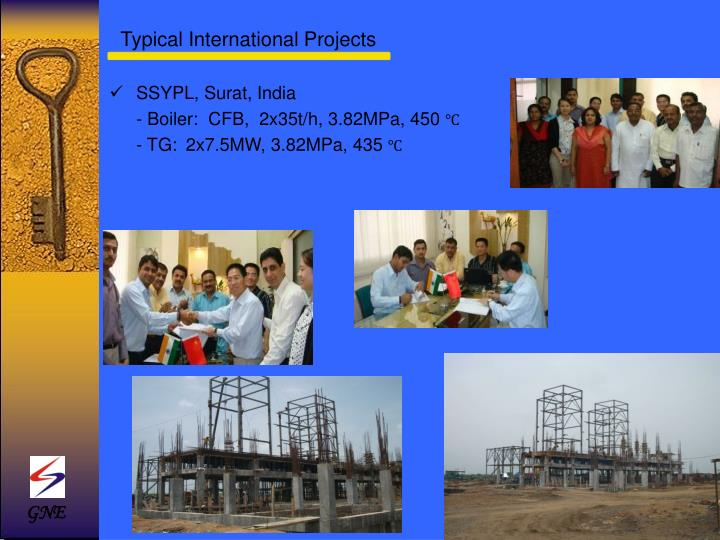 Typical International Projects
