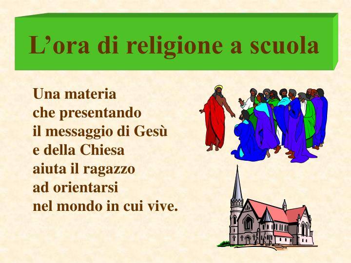 L'ora di religione a scuola
