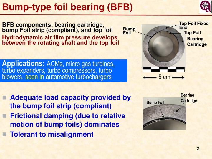 Bump-type foil bearing (BFB)