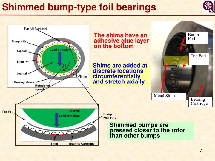 Shimmed bump-type foil
