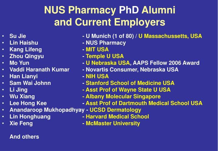 NUS Pharmacy
