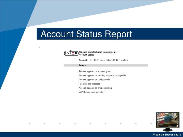 Account Status Report