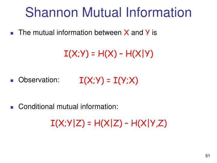 Shannon Mutual Information