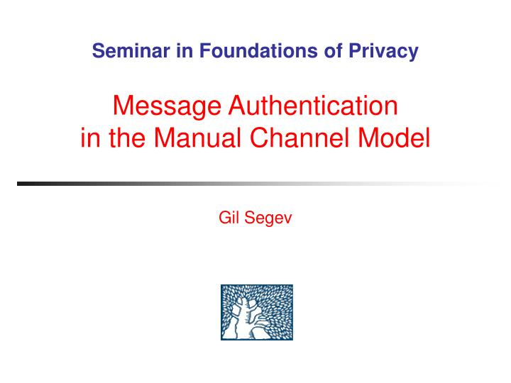 Seminar in Foundations of Privacy