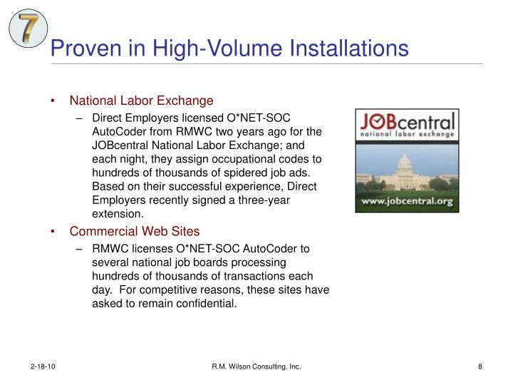 Proven in High-Volume Installations