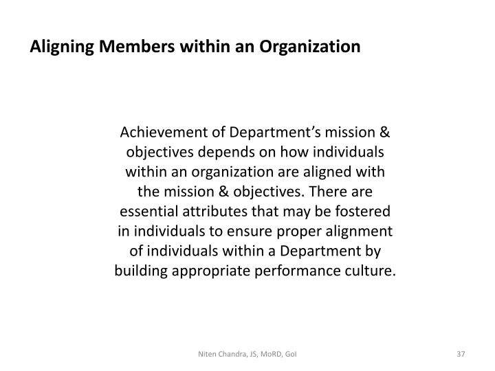 Aligning Members within an Organization