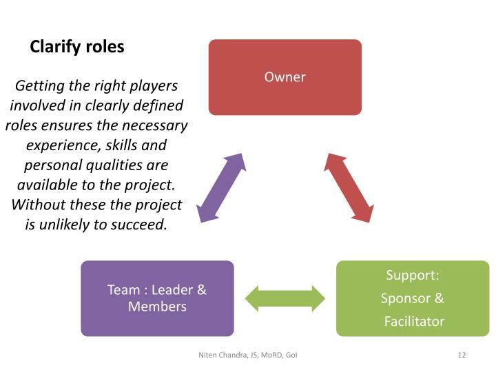Clarify roles