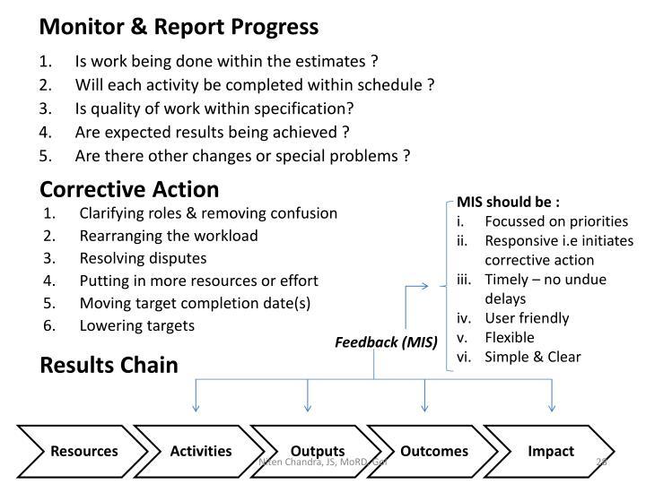 Monitor & Report Progress