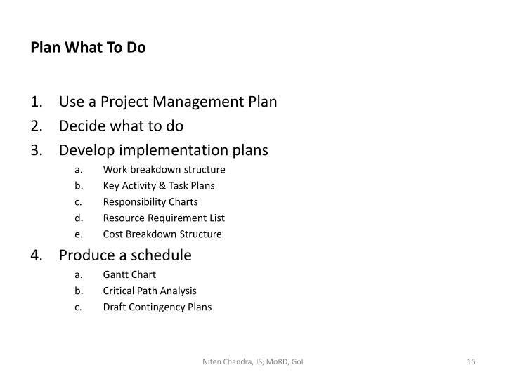 Plan What To Do