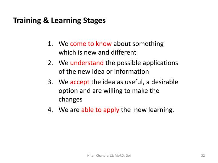 Training & Learning Stages