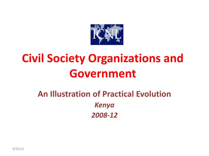 civil society organizations and government