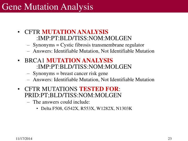 Gene Mutation Analysis