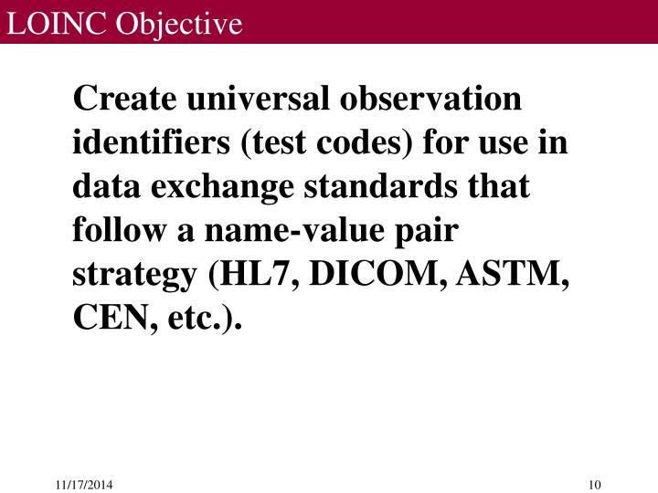 LOINC Objective