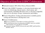 objective of genetests loinc collaboration